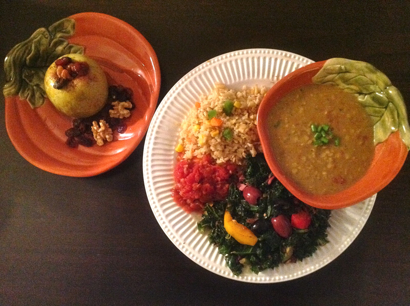 healthy fall dinner plate